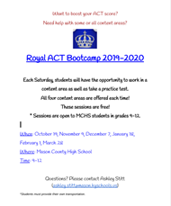 ACT Bootcamp Flyer