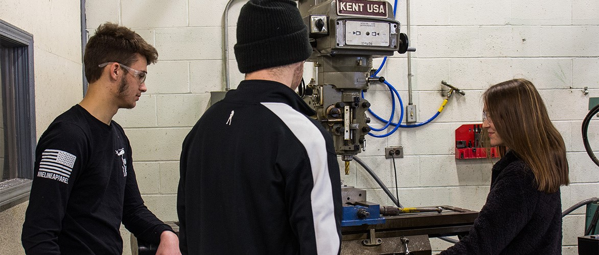 Students in the Computerized Manufacturing and Machining program.
