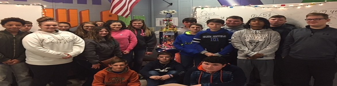 Congratulations to Ms. Heater's homeroom for having the highest attendance in the building for the month of December 2017.
