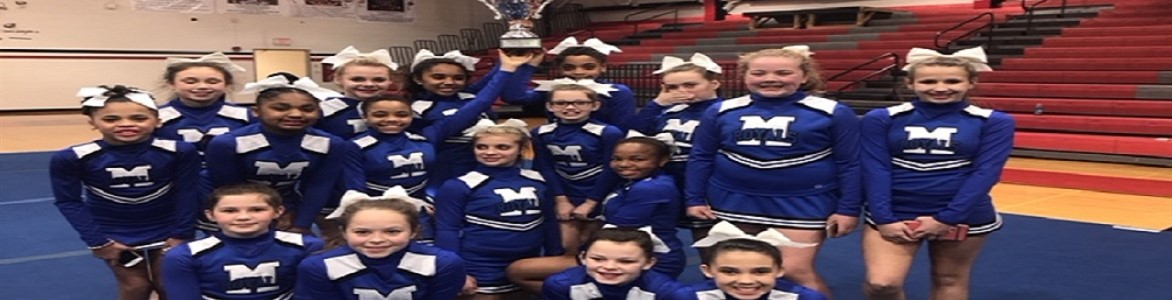 Congratulations to our cheer squad on winning first place in the large school division at their competition this weekend! January 2018.