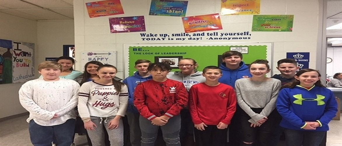 Congratulations to February Leaders of the Month 2018 6th grade:  Dannia Vilchis-Montesciscoa, David Reed, Ava Wamsley, Blake Osgood 7th grade: Selena Gonzales, Carson Pugh, Tommie Claypoole, Tyron Rice 8th grade: Natalia Calvo, Silas Bothman, Annalese Simpson, Alix Flinders